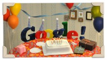 Retro Google Doodle for 13th Birthday